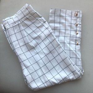Pants - Nordstrom - Chriselle JOA White Plaid Trouser